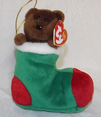 Ty Beanie Babies Christmas Bear Stockings NWT