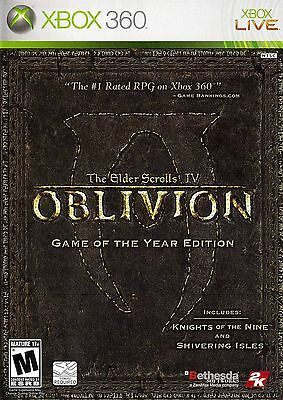 XBOX 360 The Elder Scrolls IV: Oblivion Video Game GAME OF THE YEAR EDITION goty