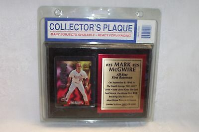 """Mark McGwire #25 Plaque 8"""" X 6"""" Limited Edition 2485 of 6200 New in package"""