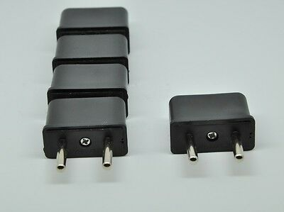 5  PCS USA US To EU Europe EURO Travel Charger Power Adapter Converter Wall Plug