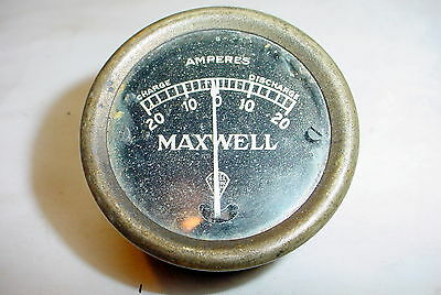 Vintage Maxwell Nagel Electric Ammeter 20-0-20 Amps Charge/Discharge Meter