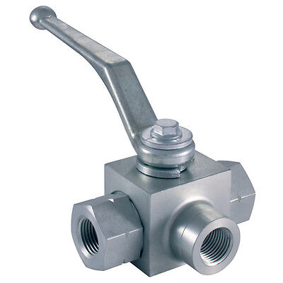 "Hy-Fitt Hydraulic Ball Valves - 1.1/2"" Bspp T Ported 1-05023"