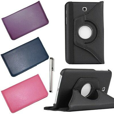 360° Rotating PU Leather Case Smart Cover For Samsung Galaxy Tab 4 7.0 SM-T230NU