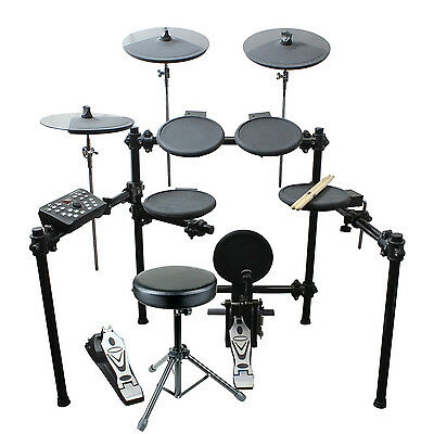 Artist EDK260 Electric 8 Piece Electronic Drum Kit +Stool +Headphones - New