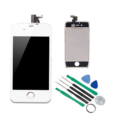 Replacement Assembly LCD Touch Screen Digitizer -White Glass OEM for iPhone 4S