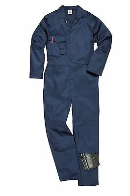 Sheffield Coverall Knee Pad Pockets Stud Front Rear Pocket Overall Boilersuit
