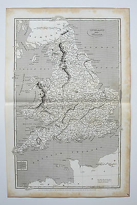 1809 Arrowsmith Antique Map ENGLAND & WALES engraved by Hewitt