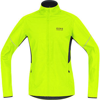Gore Mens Essential Shell Partial Running Jacket - Yellow