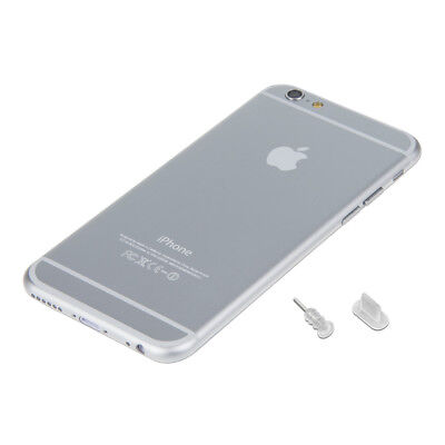 kwmobile DUST PROTECTION SET FOR APPLE IPHONE 6 6 PLUS TRANSPARENT PLUG PIN PEG