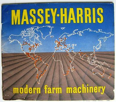 MASSEY HARRIS - Agricultural Tractor Farm Machinery Brochure - c1947?