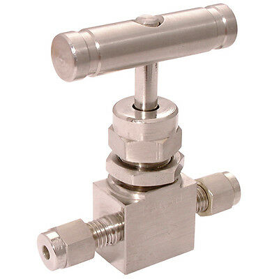 "316 Stainless Steel Twin Ferrules - 3/4"" Od Comp 6000Psi 316Ss Needle Valve 7-02"