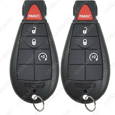 2 New Uncut Replacement Key Fob Keyless Entry Remote Start Clicker for Fobik