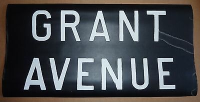 1950's Vintage NYC New York City Subway Front Destintion Roll Sign GRANT AVENUE
