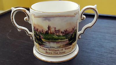 1982 SMALL AYNSLEY TWIN-HANDLED LOVING CUP FOR BIRTH OF PRINCE WILLIAM