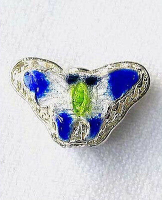 This is for 5 COBALT! CLOISONNE Butterfly PENDANT Beads 8635C