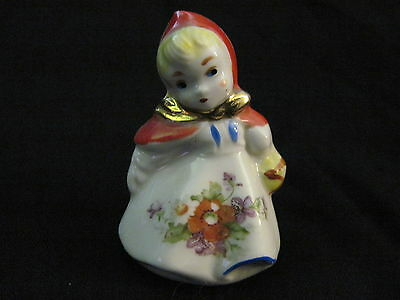 Vintage Hull Pottery LITTLE RED RIDING HOOD SINGLE SALT PEPPER SHAKER (A)