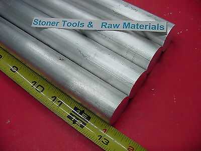 """4 Pieces 3/4"""" ALUMINUM 6061 ROUND ROD 13"""" long Solid T6511 New Lathe Bar Stock"""