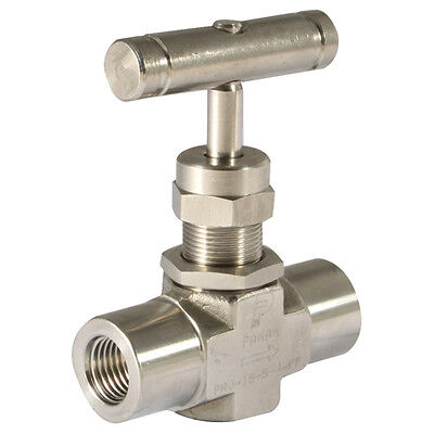 "316 Stainless Steel Twin Ferrules - 3/4"" Nptf F/f 6000Psi 316Ss Needle Valve 7-0"