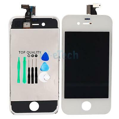 White Replacement Assembly LCD Touch Screen Digitizer Glass GSM OEM for iPhone 4