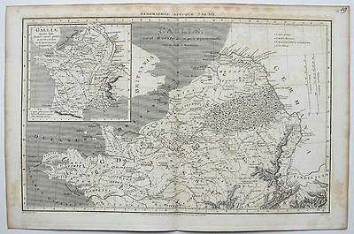 1807 Ancient France Galliae Antique Map by Macpherson
