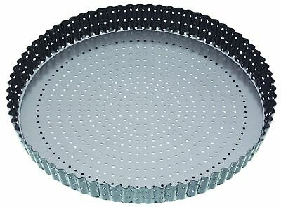 Master Class Crusty Bake Heavy Duty Non Stick Perforated Fluted Quiche Tin 20cm