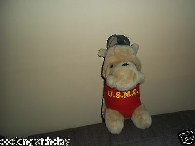 Realistic Plush Doll Figure Mary Meyer U.s.m. C. Bulldog Patches Marines Toy