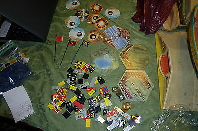 Lot of Battle Master Extra Pieces and Cardboard Cut Outs; About 100 Piece