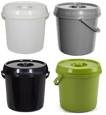 Bs 14L Plastic Bucket With Lid 3 Gallons Baby Nappy Bucket/bin Storage,container