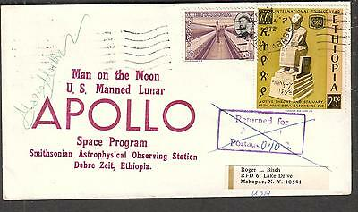 Apollo 16 space cover Ethiopia Smithsonian Astrophysical Observing Sta signed