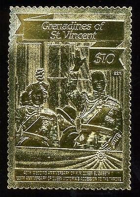 (016763) Gold, Royalty, Saint Vincent - Gren. -