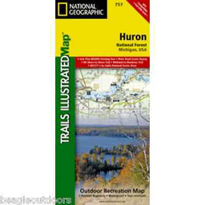 National Geographic Trails Illustrated Michigan Huron National Forest Map 757