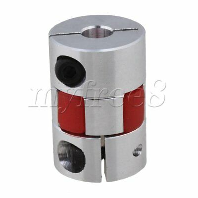 8mm x 6.35 mm CNC Flexible Plum Coupling Shaft Coupler D20 L30 Metal