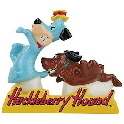 Huckleberry Hound and Dog in Tray Ceramic Salt & Pepper Shakers Set, NEW BOXED