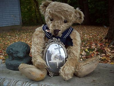 Antique Rare 18 inch Ideal Bear With Postcard Picture Provenance ~ THEODORE