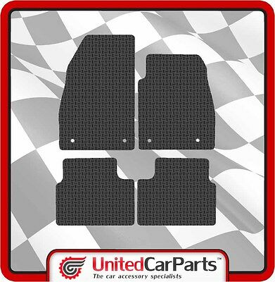 Vauxhall Insignia (2008-On) Rubber Car Mats With Black Trim Genuine UCP 1315