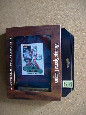 VINTAGE SPORTS PLAQUES 6x8 NHL PATRICK ROY COOL TRADE PINNACLE IN BOX