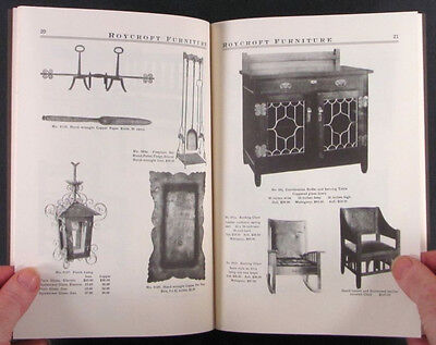 ROYCROFT ARTS & CRAFTS MOVEMENT MISSION FURNITURE in 1906 -AMERICAN