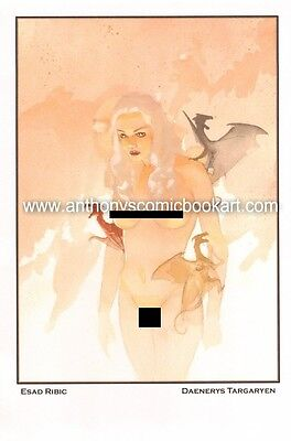 Daenerys Targaryen from Game of Thrones Print - Signed by Esad Ribic
