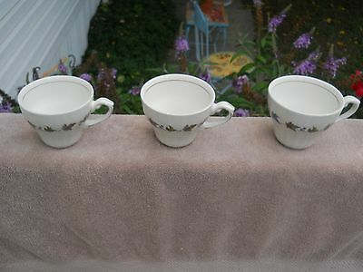 MEAKIN J & G China England Woodland Set Of Three Coffee Cups