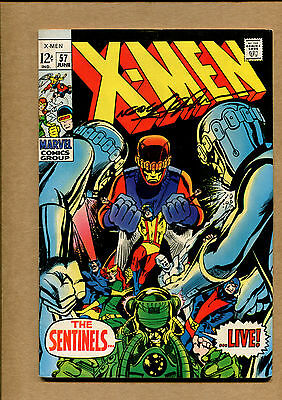 X-Men #57 ~ (7.0) - Signed by Neal Adams  1969  ~ WH