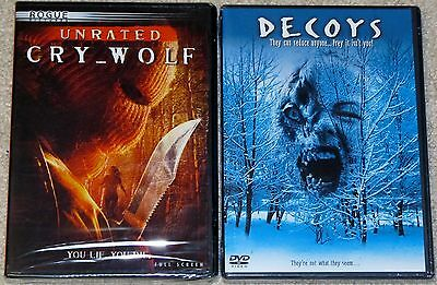 Horror DVD Lot - Cry Wolf Unrated (New) Decoys (New)