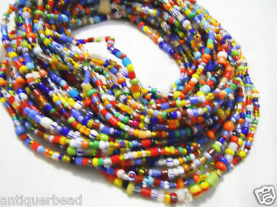 AFRICA TRADE BEADS GHANA SMALL MULTIPLE MIX CHRISTMAS BEADS-   10 st