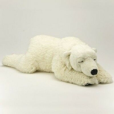New Polar bear White Real Plush Stuffed Animals Sleeping Bear Large