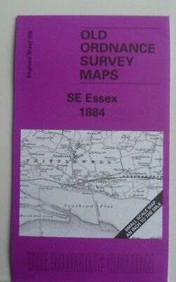 OLD ORDNANCE SURVEY MAPS SE ESSEX  MAP & PLAN OF BATTLESBRIDGE 1884 S258 New