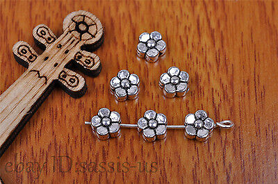40pcs 6mm Charm snow flower spacer bead Diy Jewelry Making For Bracelet 7187