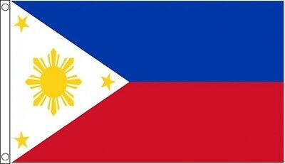 Philippines Flag 5 x 3 FT - 100% Polyester With Eyelets
