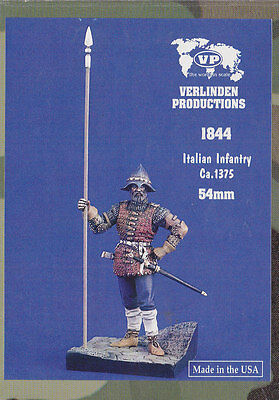 VERLINDEN 1844 - ITALIAN INFANTRY Ca. 1375 - 54mm RESIN KIT - NUOVO