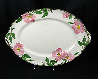 Franciscan Desert Rose Oval Serving Platter with Handles 14 Inch USA California