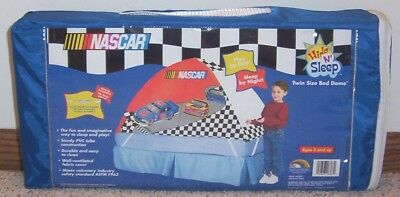 Kids NASCAR Twin Size BED DOME/TENT Hide 'n Sleep NEW