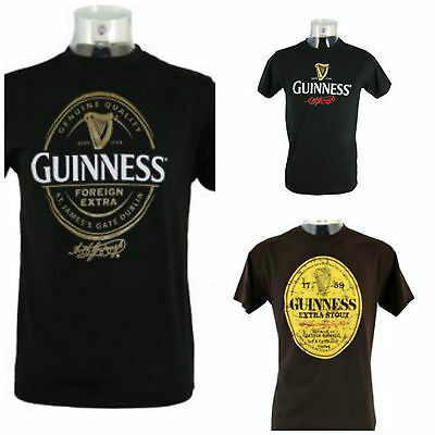 Guinness Ireland Irish T-Shirt Guiness Signature Label Official Tshirt Patrick's
